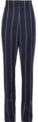 Oscar de la Renta Striped Wool-blend Straight-leg Pants