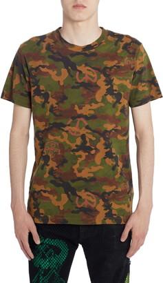 Off-White Camouflage Short Sleeve Slim T-Shirt