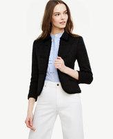 Ann Taylor Petite Tweed Texture Bolero Jacket