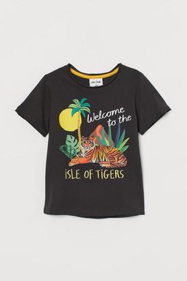 H&M Classic motif-detail T-shirt