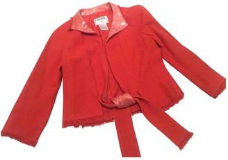 Chanel Orange Cotton Jacket for Women