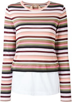 No.21 layered stripe jumper - women - Cotton/Polyamide/Polyester/Viscose - 42