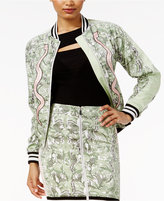 GUESS Reese Snake-Print Bomber Jacket