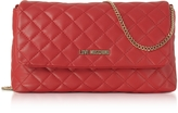 Love Moschino Evening Quilted Red Eco-Leather Crossbody Bag