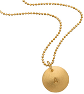 Zoe Chicco Personalized 14K Gold Disk Necklace