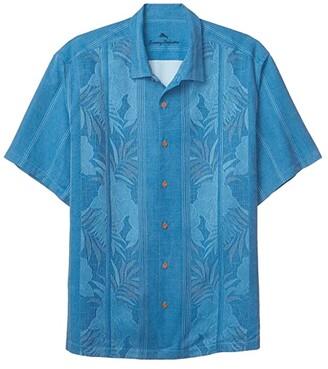 Tommy Bahama Big Tall Tahitian Border (Mambo Blue) Men's Short Sleeve Button Up