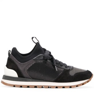 Brunello Cucinelli colour block sneakers