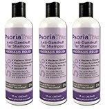 Coal Tar Psoriasis Shampoo Psoriatrax 25% Coal Tar Solution 12oz Bottles- Psoriasis - Equivalent to 5% Coal Tar - 5 to 10 Stronger than the Other Brands (3 Bottles)