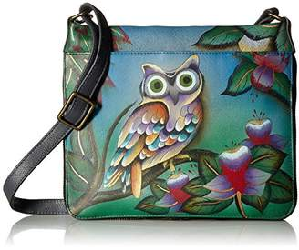 Anuschka Anna by Hand Painted Leather Women's EXTENDABLE Crossbody