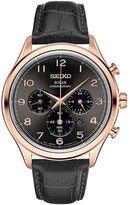 Seiko Men's Classic Leather Solar Chronograph Watch - SSC566