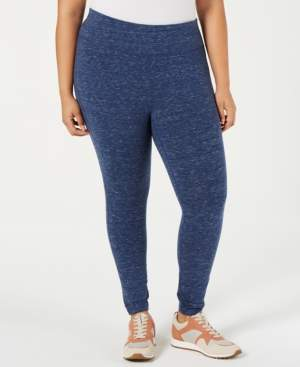 62f3c31a45804 Ideology Plus Size Tummy-Control Leggings, Created for Macy's