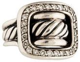 David Yurman Diamond Cable Buckle Cocktail Ring