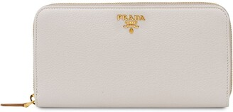 Prada zip around wallet