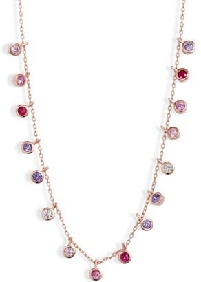 Adina's Jewels Pastel Bezel Necklace