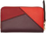 Loewe Red Puzzle Zip Around Wallet