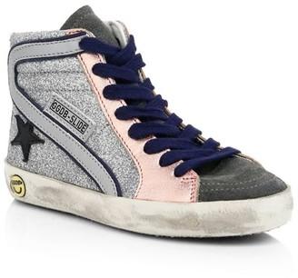 Golden Goose Baby's & Little Girl's Slide Colorblock High-Top Sneakers