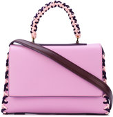 Emilio Pucci braided trim tote - women - Calf Leather/Polyester - One Size