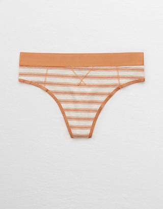 aerie Cotton High Waisted Thong Underwear