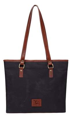 Vicenzo Leather Siena Canvas Leather Handbag Tote Bag