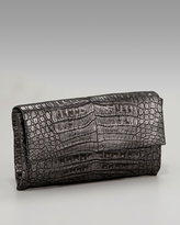 Glazed Croc Clutch