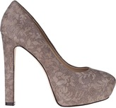 Brian Atwood Savita Platform Pump Grey Lace