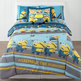 Asstd National Brand Despicable Me Industrial Minions Reversible Twin/Full Comforter + BONUS Sham