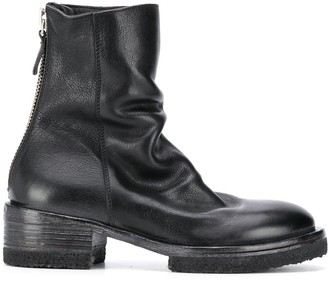 Moma King Crimson scrunched ankle boots