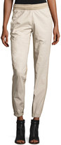 Yeezy Side-Stripe Jogger Pants, Ivory