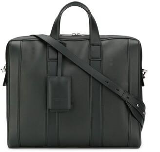 Bottega Veneta Diamond-Textured Briefcase