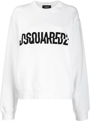 DSQUARED2 crossed logo print sweater