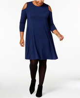 Style&Co. Style & Co Plus Size Cold-Shoulder Dress, Only at Macy's