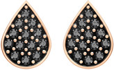 Swarovski Ginger Stud Pierced Earrings, Gray, Rose gold plating