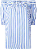 MICHAEL Michael Kors striped off-shoulder blouse - women - Cotton/Spandex/Elastane - XXS