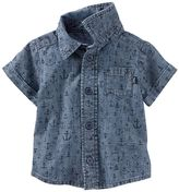 Osh Kosh Baby Boy Anchor Chambray Shirt