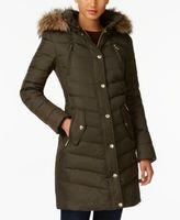 MICHAEL Michael Kors Faux-Fur-Trim Down Coat