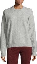 Joseph Compact Wool Crewneck Sweatshirt, Marble