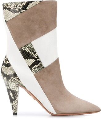 Aquazzura Pointed Toe Ankle Boots