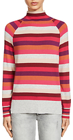 Oui Stripe Knit Jumper, Pink/Red