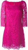 Dolce & Gabbana floral lace fitted dress - women - Silk/Cotton/Polyamide/Viscose - 42