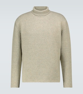 AURALEE Camel hair-blend turtleneck sweater