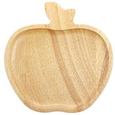 JustHome Decorative Wooden Serving Tray/ Plate Bowl- Apple