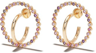 Charlotte Chesnais 18kt yellow gold Saturn sapphire and amethyst medium earrings