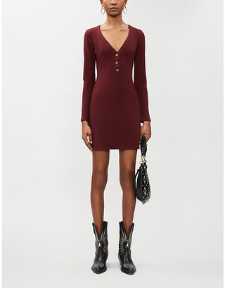 Reformation Jani ribbed stretch-jersey mini dress