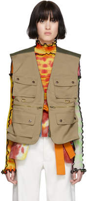 Asai ASAI SSENSE Exclusive Reversible Tan and Khaki Multipocket Vest