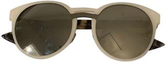 Christian Dior Abstract White Plastic Sunglasses