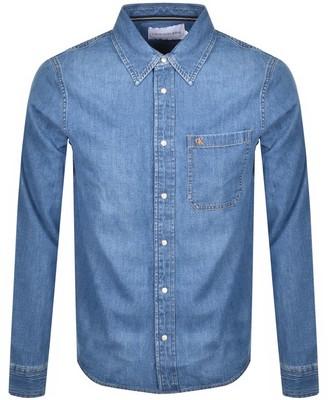 Calvin Klein Jeans Long Sleeved Denim Shirt Blue