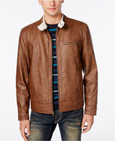 American Rag Men's Faux-Leather Bomber Jacket, Only at Macy's