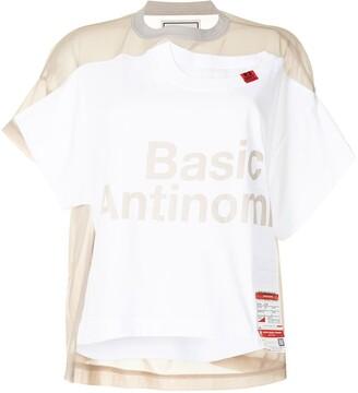 Maison Mihara Yasuhiro mesh-panelled jersey T_shirt