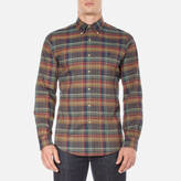 Polo Ralph Lauren Men's Long Sleeve Checked Twill Shirt Cafe/Maro