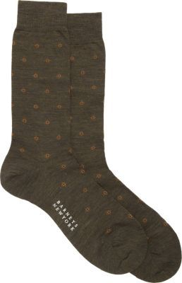 Barneys New York Dotted Diamond Socks